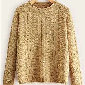Rolled Edge Knit Sweater